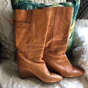 Loeffler Randall tall wedge boots